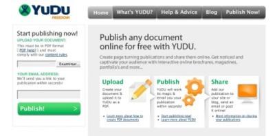 Yudu, aloja y comparte online el acceso a tus documentos PDF preferidos