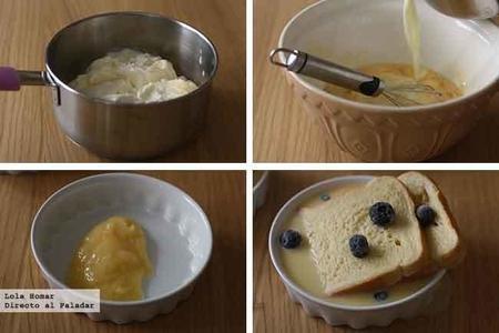 Pudines de brioche y Lemon Curd paso a paso