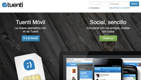 Tuenti se centra en su operador virtual y Social Messenger con su nueva página de inicio