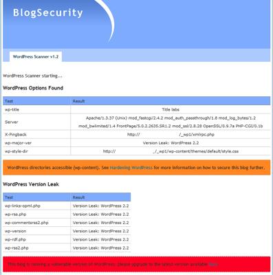 wp-scanner, comprueba la seguridad de tu blog