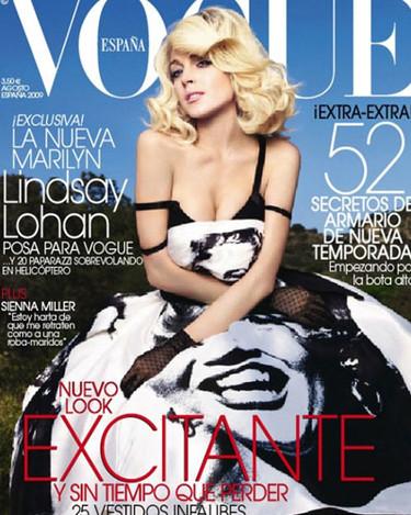 Lindsay Lohan se convierte en Marilyn en Vogue