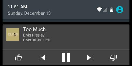 La última versión de Google Play Music agrega pulgares de me gusta y no me gusta