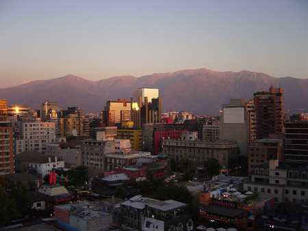 Santiago In Summer Cityscape In Chile