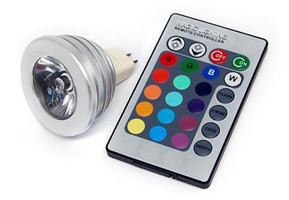 Bombilla led de colores para sustituir una hal gena for Sustituir bombilla halogena por led