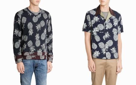 Trendencias Hombre Pineapple Print Dolce Gabbana Valentino Saint Laurent