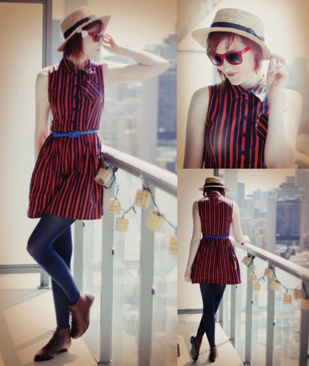 Vestido rayas verticales