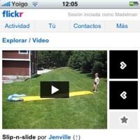 Flickr para móvil ahora con vídeo