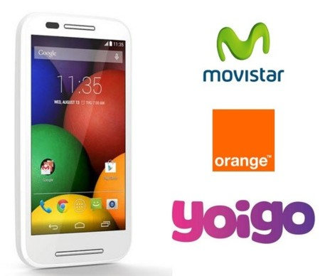 Moto E estará disponible con Movistar, Orange y Yoigo
