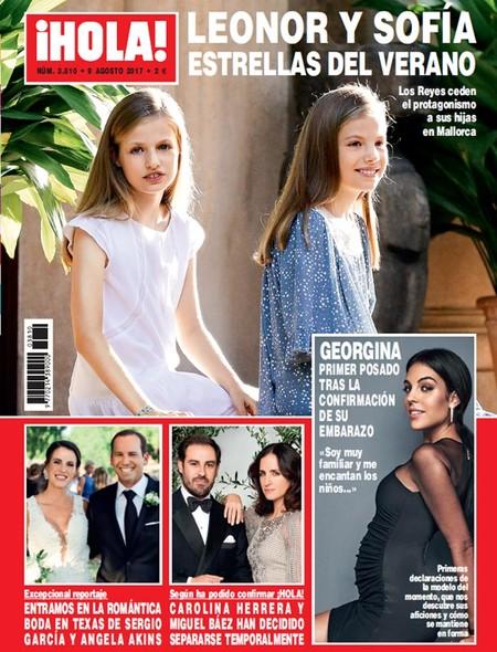 ¡Y llegó el día! Georgina Rodríguez, novia de Cristiano Ronaldo, presume de embarazo (aunque no sorprende) en ¡Hola!