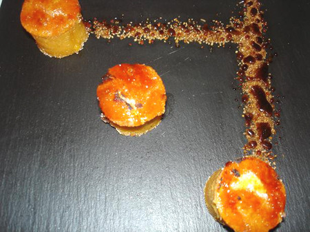3 en raya, pastelillos de boniato caramelizado