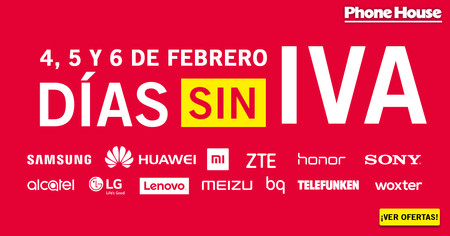 Días Sin IVA en Phone House: hasta el 6 de febrero nos ahorramos el 21% de IVA en Xiaomi, Samsung y Huawei