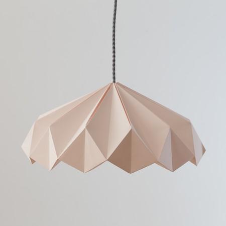 Seran Rosa Lampara Diseno Origami Nordico Arquitectura Interiorismo