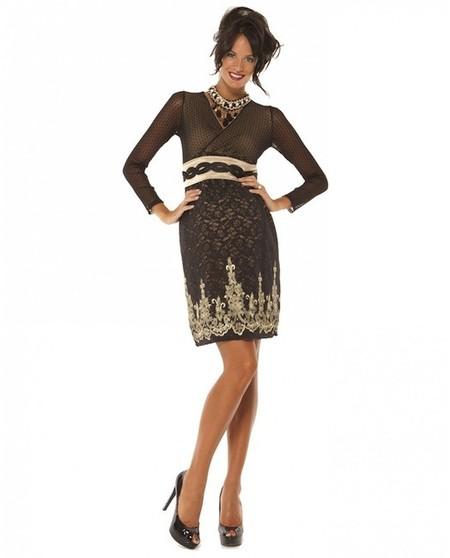 vestido bordado metalizado