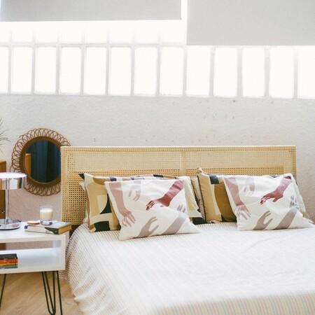 Cómo hacer un cabecero de cama de rejilla de ratán (que es pura tendencia)