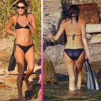 Carla Bruni se deja ver en bikini