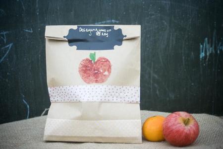 Manualidades vuelta al cole: bolsas personalizadas para el desayuno