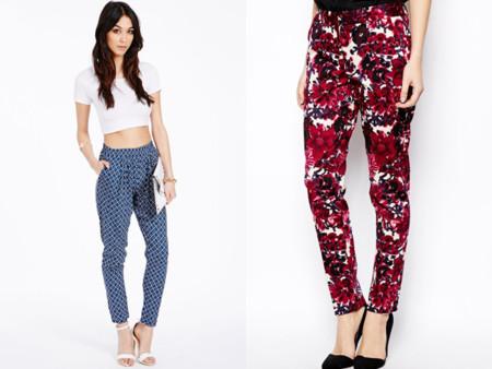 Tendencias low-cost Primavera-Verano 2014 pantalones estampados flores rojas Missguided