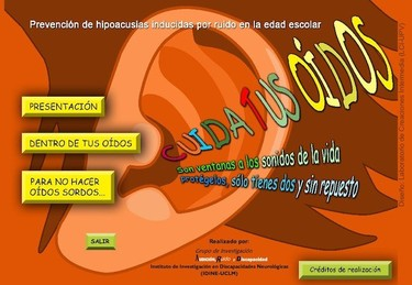 Cuida tus oídos, material interactivo para la salud acústica de los niños