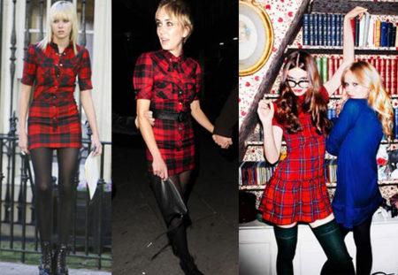 Vestido de cuadros de Dolce & Gabbana