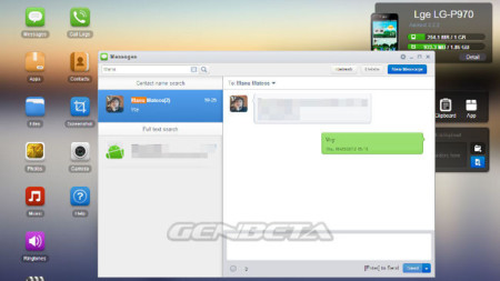 AirDroid módulo SMS