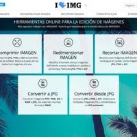 I Love IMG es un práctico conjunto de utilidades para editar fotos online