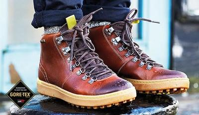 De las montañas y el campo: botas Nanu Hike GTX de Clarks en color castaño