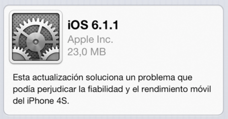iOS 6.1.1 iPhone 4S problemas batería