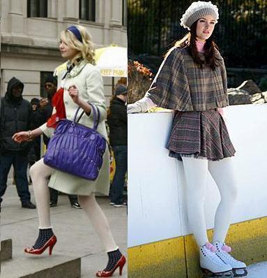 gossip girl medias blancas