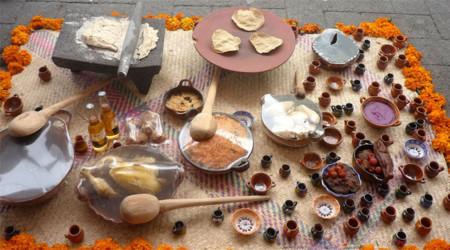 Comida altar de muertos