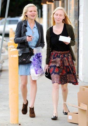 Kirsten Dunst, look calle