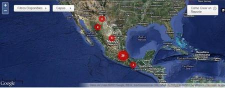 Mapa de agresiones contra periodistas y blogueros en México