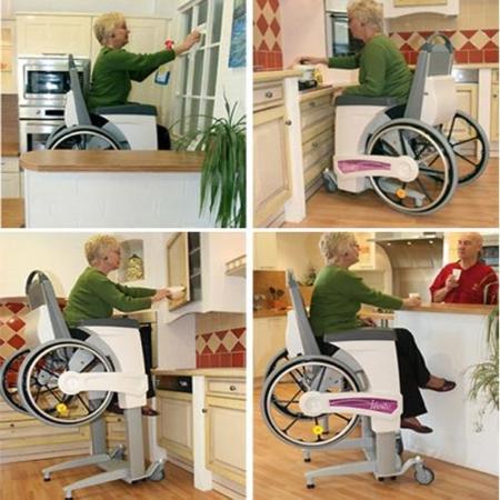 Silla de ruedas capaz de elevarse