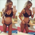 Una modelo australiana sorprende con su diminuta barriga a los 6 meses de embarazo