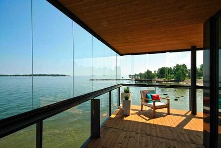 Cortina de cristal para porches y terrazas