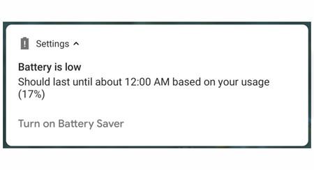 Android P hora de batería agotada