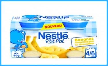 Potitos de Nestlé con trozos de cristal dentro