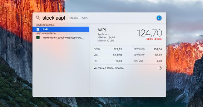 Foto de Usos de Spotlight en OS X El Capitan (1/4)