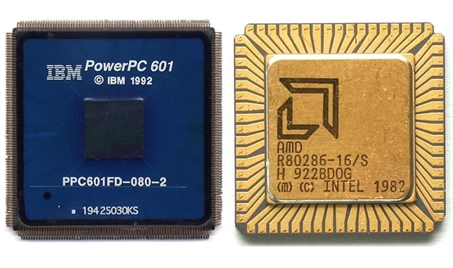 IBM PowerPC 601 e Intel 80286