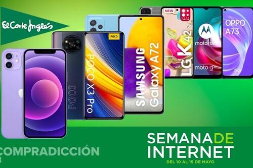28 smartphones en oferta en la Semana de Internet de El Corte Inglés: modelos de Apple, LG, Motorola, OPPO, Pocophone, Samsung y Xiaomi hasta con un 44% de descuento