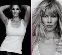 Super modelos al natural en Harper's Bazaar