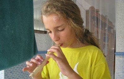Manualidades divertidas: una flauta de caña