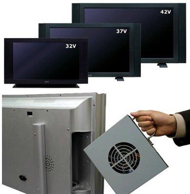 Quixun LCD, para alojar el PC y luego sacarlo
