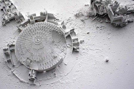 Cuadros 3D de ciudades post apocalípticas