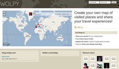 Wolpy, red social para viajeros