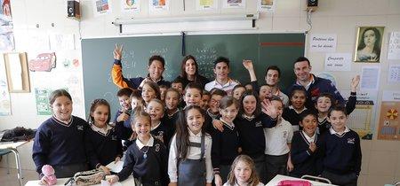 Marc Márquez y Dani Pedrosa también gastan bromas y se convierten en profesores de matemáticas sin mucha idea
