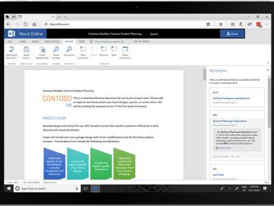 Word, Excel y Outlook pronto serán potenciados con inteligencia artificial