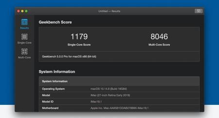 Geekbench 5.1 llega a iOS y Mac con mejoras de CPU y rendimiento de cómputo