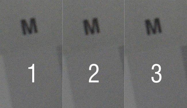 Tres imágenes iguales, diferente ruido