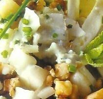 Ensalada de endibias con queso y peras