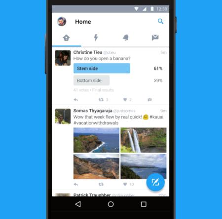 La aplicación de Twitter para Android tiene un nuevo diseño